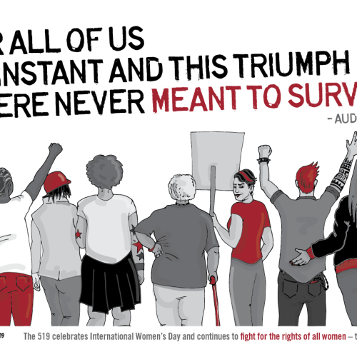 International Women's Day Poster designed by LUTS