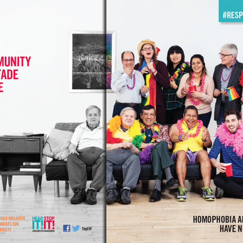 519 LGBT RespectYourElders campaign by Light Up The Sky