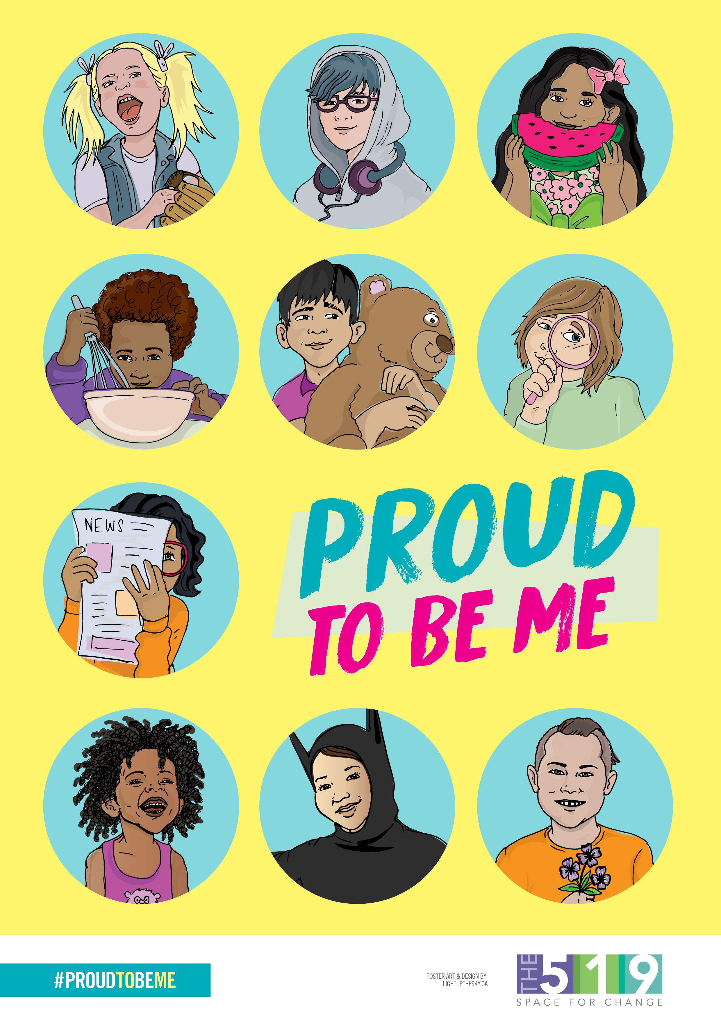 Proud to be Me illustrated poster for 519