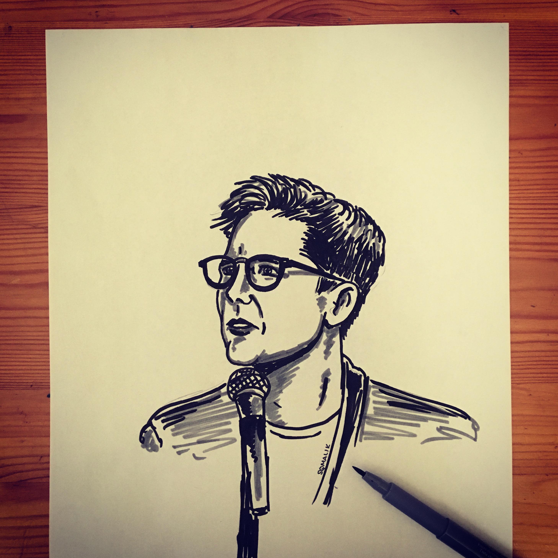 Hanna Gadsby ink sketch by Suzy Malik