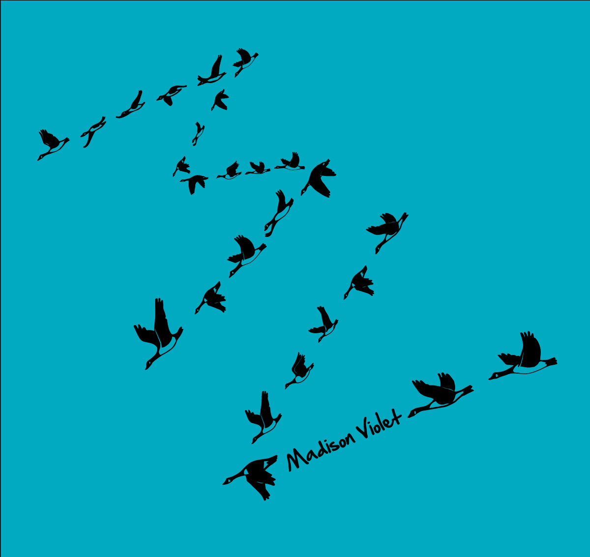 Madison Violet Geese Formation T shirt Design